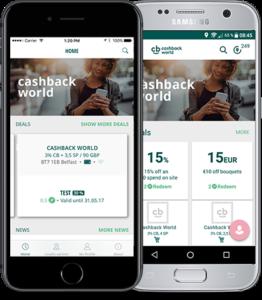 Cashback kort digitalt på smartphone